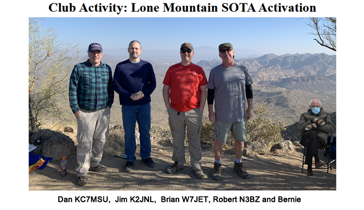 "Superstition ARC Club Activity"" Lone Mountain  SOTA Activation with - Dan KC7MSU,  Jim K2JNL,  Brian W7JET, Robert N3BZ and Bernie"