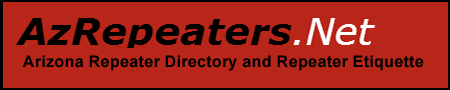 Arizona Repeaters Directory and Repeater Etiquette