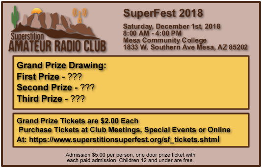 Superstition SuperFest 2016 Grand Prize Tickets!