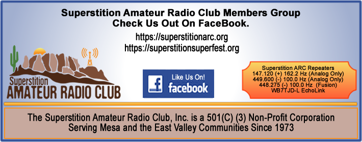 Like the Superstition Amateur Radio Club Members on FaceBook