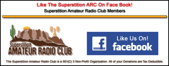 Like the Superstition Amateur Radio Club on FaceBook