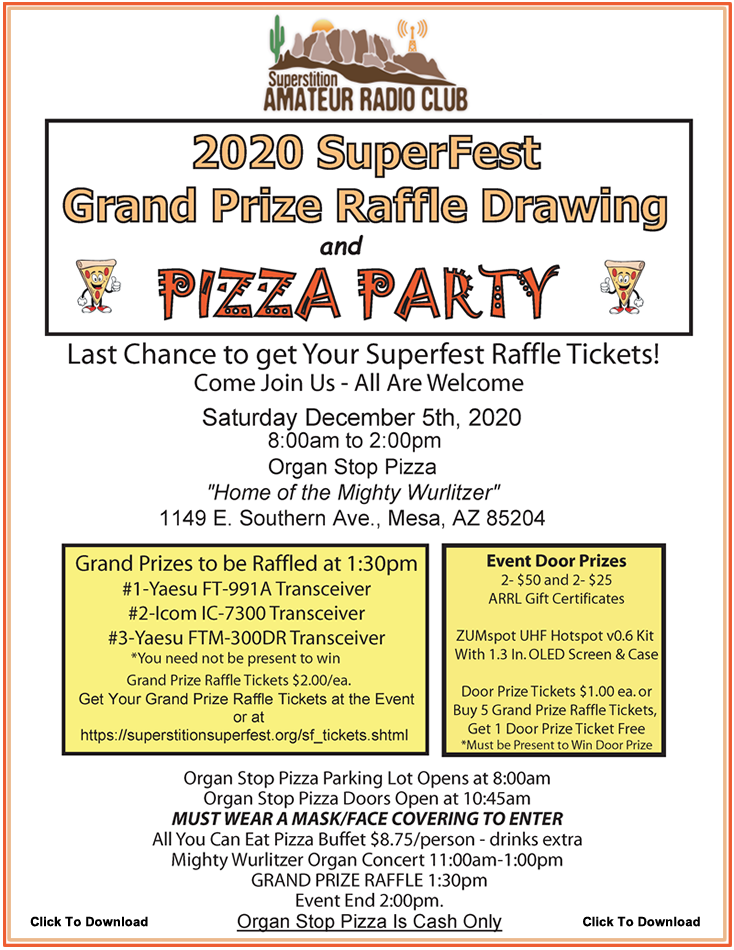 Superstition SuperFest Event December 5th, 2020. From 8:00 AM to 2:00 PM