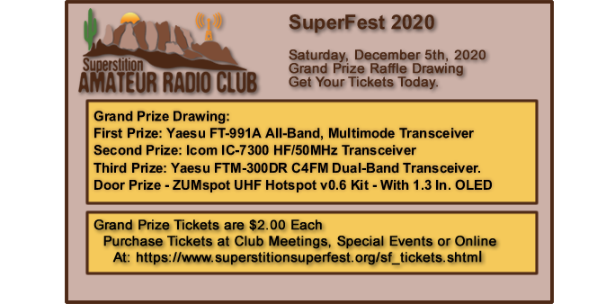 Superstition ARC SuperFest art now Available at Club Meetings, Special Events and on the SuperFest Website.