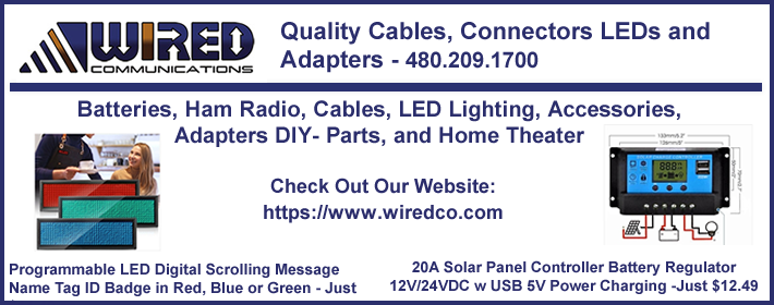 >Wired Communications | Discount connectors, adapters and cables for computers, home theater, network, and ham radio.